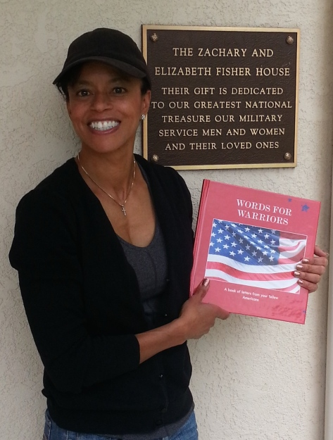 Here I am at the Fisher House.  Very happy to be able to leave a copy here.