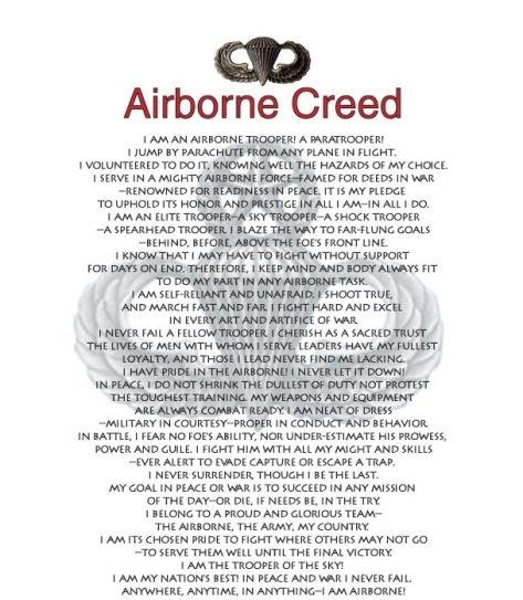 AIRBORNE CREED