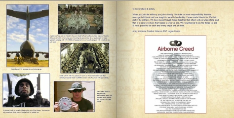 A look at the layout in the book